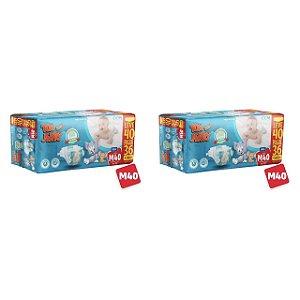 Kit 2 Fraldas Descartáveis Tom E Jerry Mega M