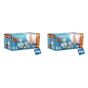 Kit 2 Fraldas Descartáveis Tom E Jerry Mega G