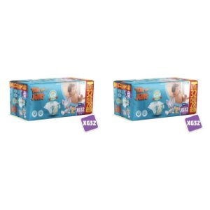Kit 2 Fraldas Descartáveis Tom E Jerry Mega XG