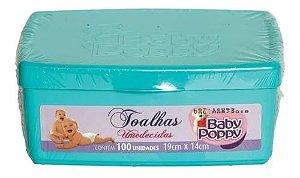 Estojo Toalhas Umedecidas Baby Poppy 100 unidades