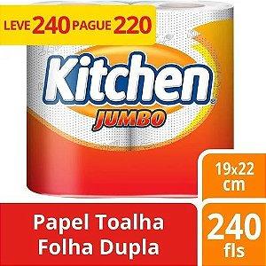 Papel Toalha Kitchen Jumbo 2 Unidades