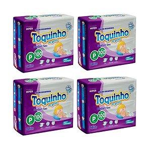 Kit Com 4 Pacotes Fraldas Toquinho Premium Atacado Barato P