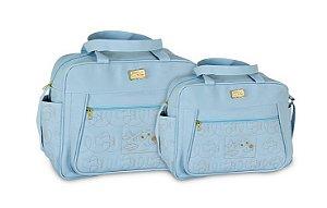 Kit 2 Bolsas Mave Baby Bebê Maternidade Menino Azul Claro Gestante Barato