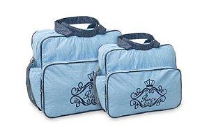 Kit Bolsas De Bebê Bolsa Maternidade Mave Baby Azul Claro Menino