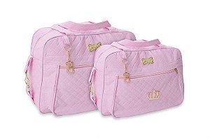 Kit De Bolsas Maternidade Mave Baby Rosa Djon Com 4 Peças Super Promoção