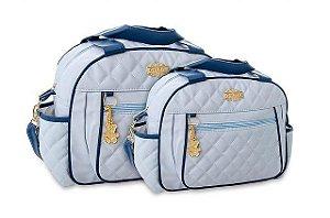 Kit Bolsa Griff Baby Bebê Maternidade Azul Claro Menino Gestante