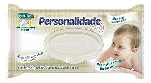 1000 Toalhinhas Umedecidas Personalidade Baby 10 Pacotes com 100 unidades em cada.