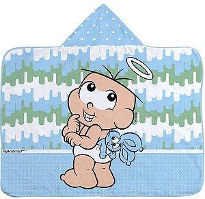 Toalha De Banho Bebê Com Capuz Turma Da Mônica Cebolinha