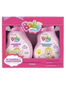 Kit Muriel Baby Rosa shampoo e condicionador 100ml