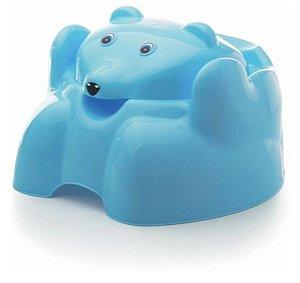 Troninho Penico Vaso Desfralde Sanitário Infantil Bebê Azul