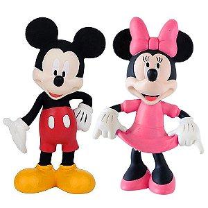 Kit Com 2 Mordedor Para Bebê Macio - Disney - Mickey E Minnie