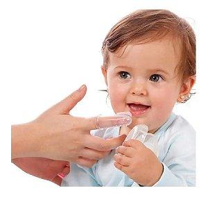 Escova Massageador Gengiva Antistress Mordedor Dentição Bebê Azul