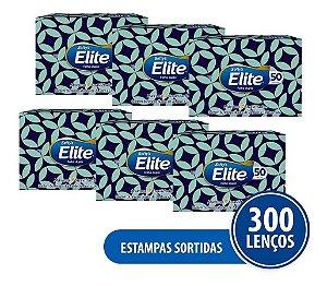 Kit Lenço De Papel Elite Softys 6 Pacotes - 50 Folhas Cada