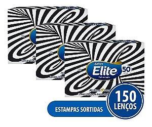 Kit Lenço De Papel Elite Softys 3 Pacotes Sortidas - 50 Folhas Cada