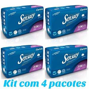 Kit Com 4 Pacotes Fralda Geriátrica Sensaty Premium M Atacado Barato Revenda