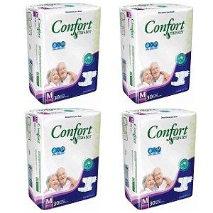 Fralda Geriátrica Confort Master M - 4 Pacotes Com 30 unidades