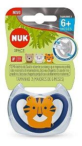 Chupeta Bebê Silicone Livre Bpa +6 Meses Tigre Nuk Space