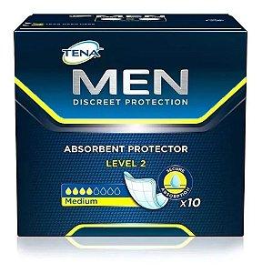 Pacotes Absorvente Masculino Tena Men - 10 Unidades