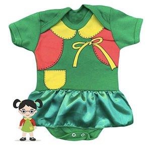 Body Bebê Vestido Cetim Bebê Chiquinha
