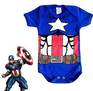 Body Bebe Capitão América