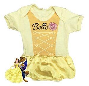 Body Bebê Vestido Bela e a Fera