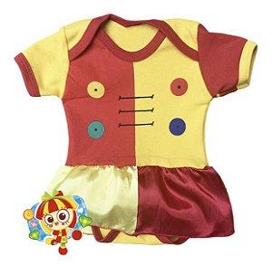 Body Vestido Bebê Emilia Turma do Pica Pau Amarelo