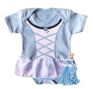 Body Vestido Bebê Cinderela