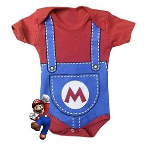 Body Bebê Mario Bros