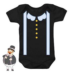 Body Bebê Mundo Bita Azul