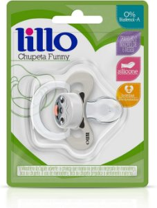 Chupeta Funny Animais Silicone Cachorro Nº2 - Lillo