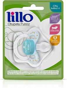 Chupeta Ortodôntica Lillo Amor Silicone Nº2 - Azul