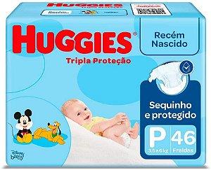 FRALDA HUGGIES TRIPLA PROTEÇÃO MEGA P ATACADO BARATO