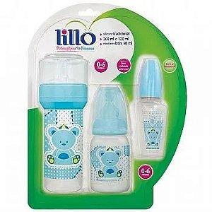 Kit Mamadeira 50/120/260 Ml Primeiros Passos Azul - Lillo