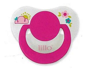 Chupeta Divertida Silicone Orto T2 Rosa - Lillo