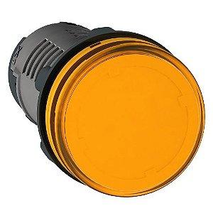 SINALEIRO PLAST. 22MM REDONDO C/LED  24VCA/VCC AMBAR ECON.