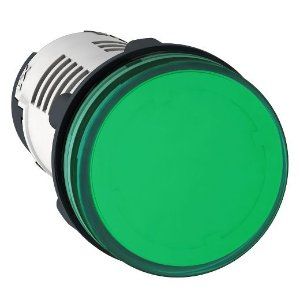 SINALEIRO PLAST. 22MM REDONDO C/LED  24VCA/VCC VD ECON.
