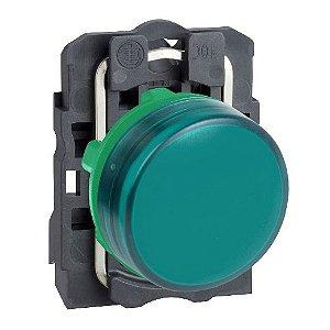 SINALEIRO PLAST. 22MM REDONDO C/LED  24VCA/VCC VD
