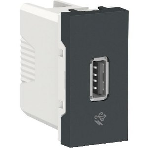 ORION MODULO TOMADA CARREGADOR USB BIVOLT 7,5W 1000MA GRAFITE