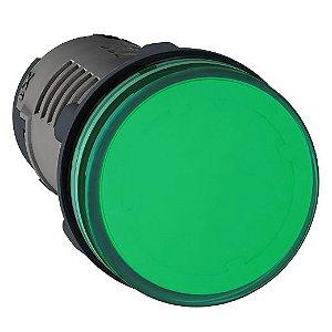 SINALEIRO PLAST. 22MM REDONDO C/LED  220VCC VD ECON.