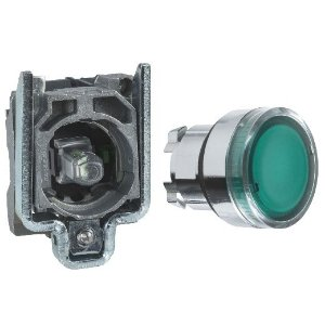 BOTAO COMANDO 22MM METALICO LUMINOSO LED 24VCA/CC 1NA VD-XB4BW33B1