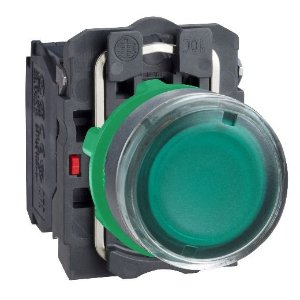 BOTAO 22MM LUMINOSO LED 24VCA/CC 1NA+1NF VD