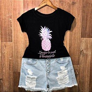 T-shirt  Eu Prefiro Descascar Abacaxi