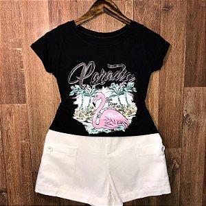 T-shirt Flamingo Paradise San Diego