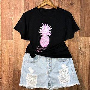 T-shirt Camisetão Eu Prefiro Descascar Abacaxi
