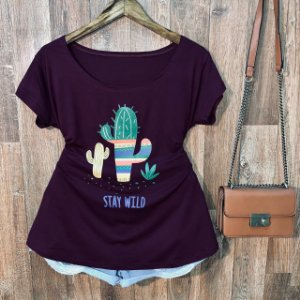 T-shirt Plus Size Cactus Stay Wild