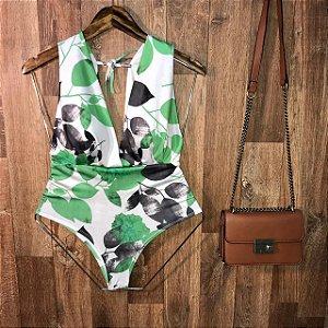 Body Regata de Amarrar com Bojo Ana Fashion Off Verde Claro