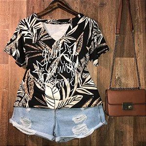 T-shirt Shocker Great Things Floral GG Black