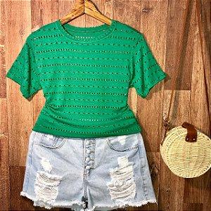 T-shirt Fashion Verde Bandeira