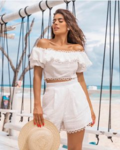 Conjunto Top com Short Mariah White