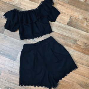 Conjunto Top com Short Mariah Black